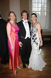 Left to right, CHRISTINA GRUBER, CRISPIN CULBERTSON and ALEXANDRA TSCHOPP at the 13th annual Russian Summer Ball held at the Banqueting House, Whitehall, London on 14th June 2008.<br /><br />NON EXCLUSIVE - WORLD RIGHTS