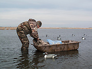 Hunter & decoys, Brown County, South Dakota