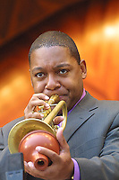 WYNTON MARSALIS. Hatch Shell..PHOTO MAY NOT BE USED FOR ADVERTISING, SALES, ON THE INTERNET ETC. OR IN THE NEWSPAPER (NEWSPARER EXCEPTION IS FOR PUBLICITY FOR THE JAZZ FESTIVAL) WITHOUT WRITTEN PERMISSION FROM THE PHOTOGRAPHER. .