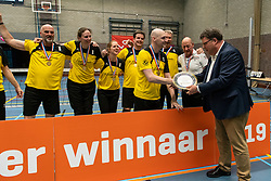 20-04-2019 NED: Dirk Kuyt Foundation Cup, Veenendaal<br /> National Cup sitting volleyball in Veenendaal / vv Apollo Mill win the cup 2019