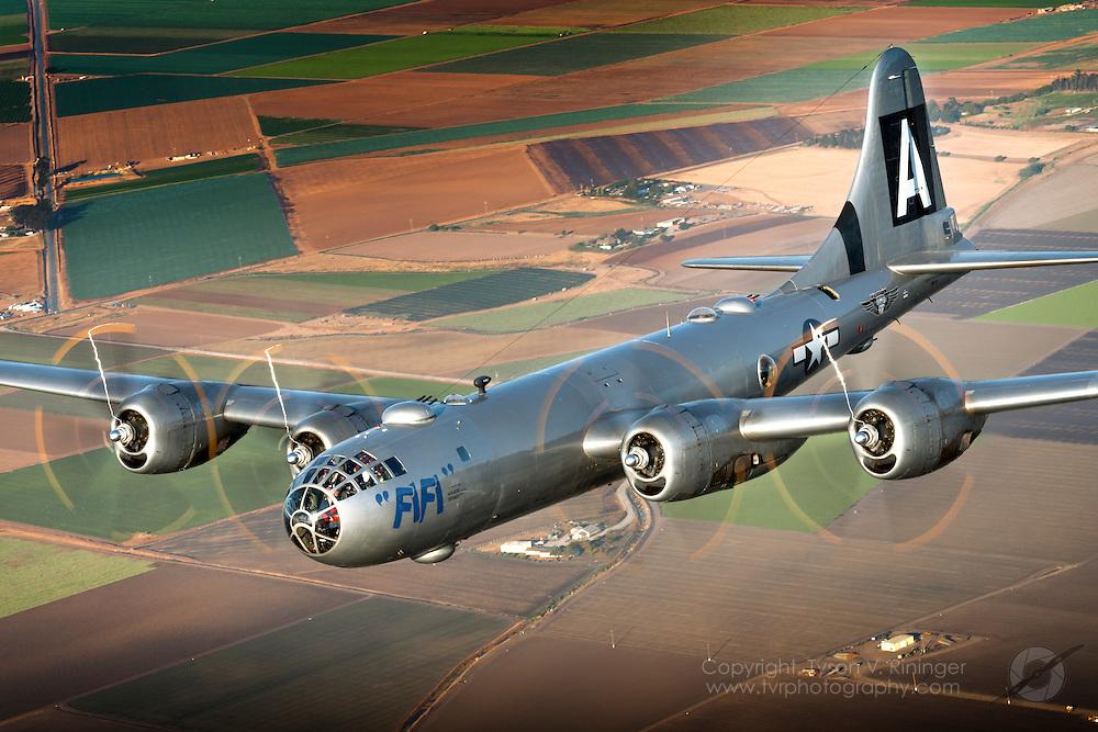 B-29 Superfortress FiFi Over Salinas, CA