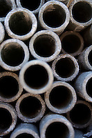 Metal pipe - close-up