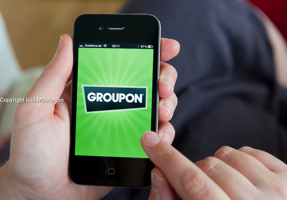 Groupon app on an  iPhone 4G smart phone