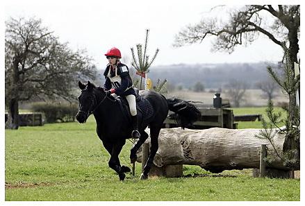 Buckingham Riding Club Eventer Trials at Milton Keynes Riding Club..5-4-2009.Blackey