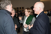 Editor of Wallpaper: Tony Chambers and architect Annabelle Selldorf host drinks to celebrate the collaboration between the architect and three of Savile Row's finest: Hardy Amies, Spencer hart and Richard James. Hauser and Wirth Gallery. ( Current show Isa Genzken. ) savile Row. London. 9 January 2012.