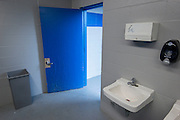 Restrooms in stadium at North Forest High School, February 23, 2015.