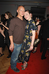 Actress CAMILLA RUTHERFORD and DOMINIC BURNS at the Scarlet TV Launch Party -  a new series of flat panel LCD televisons from LG electronics held at the refurbished church, 1 Marylebone, London on 30th April 2008.<br /><br />NON EXCLUSIVE - WORLD RIGHTS