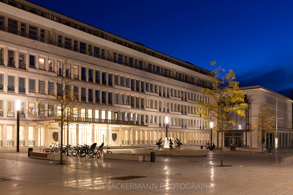 the Gereonshof in the Gerling Quartier, the former headquarters of the Gerling insurance group was converted into an exclusive residential and office complex, Cologne, Germany.<br /> <br /> der Gereonshof im Gerling Quartier, der ehemalige Unternehmenssitz der Gerling Versicherungsgruppe wurde in eine exklusive Wohn- und Bueroanlage umgebaut, Koeln, Deutschland.