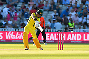 D'Arcy Short of Australia plays and misses the ball off the bowling of David Willey of England during the International T20 match between England and Australia at Edgbaston, Birmingham, United Kingdom on 27 June 2018. Picture by Graham Hunt.