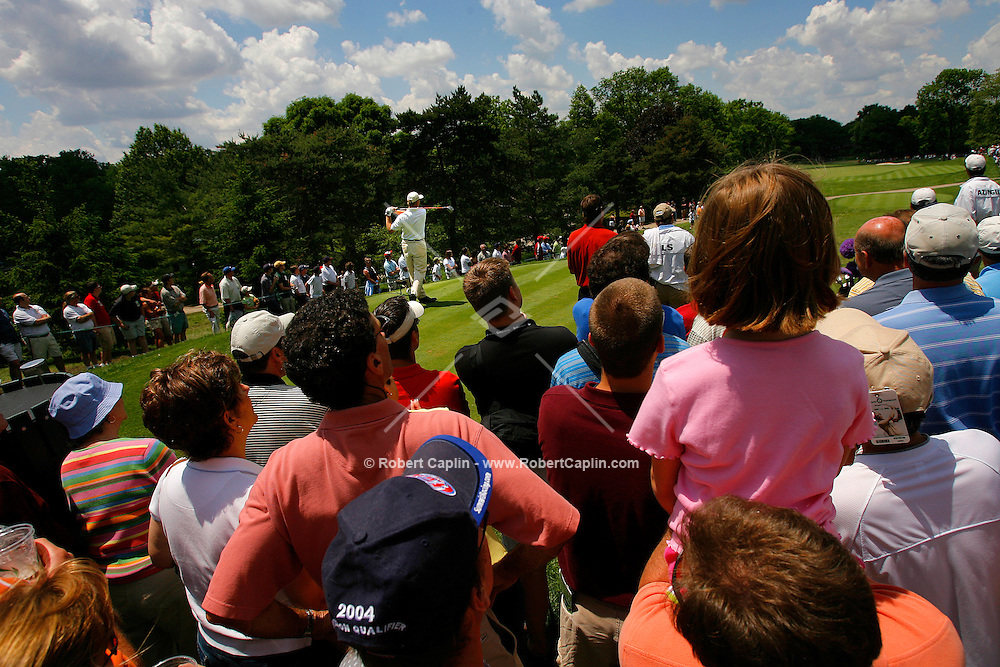 Ernie Els tees-off during the third round at the Memorial Tournament held in Dublin, OH as part of the PGA tour. 6/3/06.
