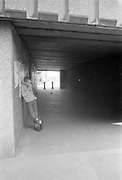 Neville Eating an Apple, Abbey Way Underpass, High Wycombe, UK, 1980s.