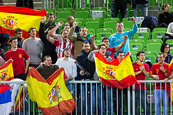 Fans of Spain during futsal match between Spain and France at Day 2 of UEFA Futsal EURO 2018, on January 31, 2018 in Arena Stozice, Ljubljana, Slovenia. Photo by Ziga Zupan / Sportida