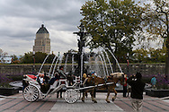 Canada. Quebec. New fountain of Tourny , from Dijon in France . build for the 400 th anniverssary   / nouvelle fontaine de Tourny (bordeaux france).