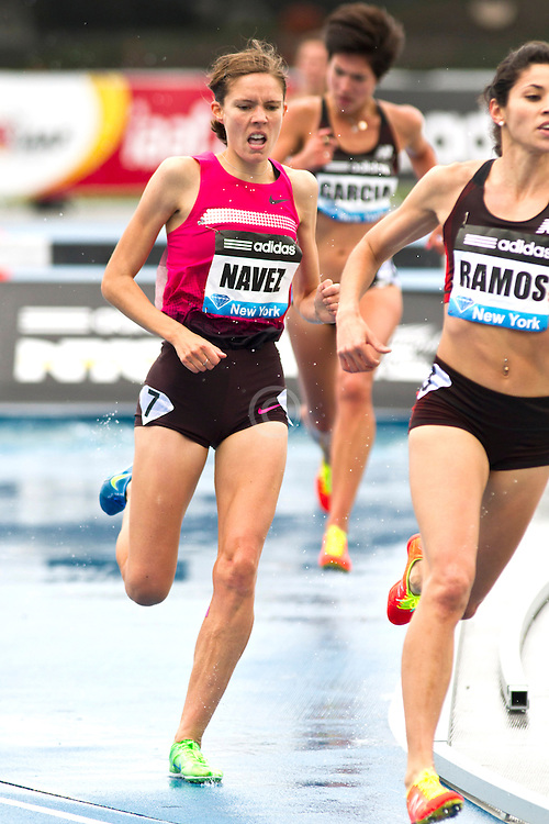 adidas Grand Prix Diamond League professional track & field meet: womens 3000 meter steeplechase, Claire NAVEZ, France