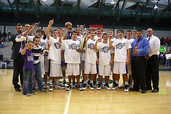 22 January 2011: 100th McLean County Tournament.  Championship game - Deer Creek Mackinaw Chiefs v ElPaso Gridley Titans