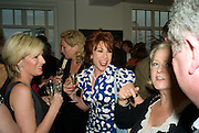 ANDREA CATHERWOOD AND KATHY LETTE, Book launch for Shire Hell by Rachel Johnson. the Strand. London. 15 May 2008.  *** Local Caption *** -DO NOT ARCHIVE-© Copyright Photograph by Dafydd Jones. 248 Clapham Rd. London SW9 0PZ. Tel 0207 820 0771. www.dafjones.com.