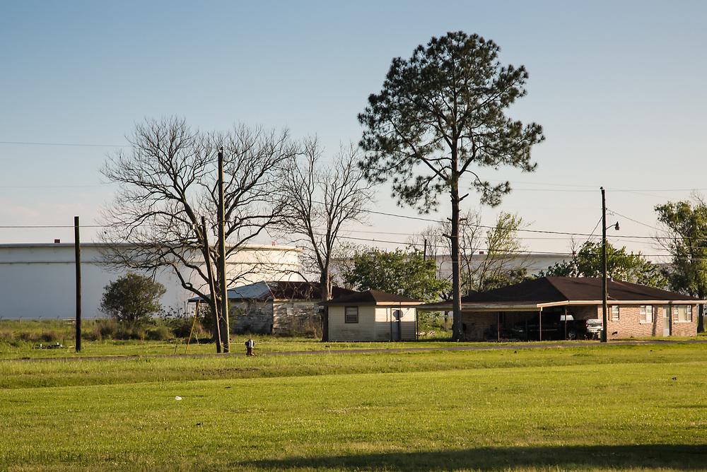 Oil tank farm near home in St. James Parrish where the Bayou Bridge Pipeline will end if built.