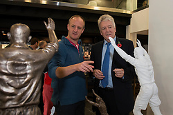 Models of the John Atyeo statue is unveiled to supporters in the Bristol Sport bar and Grill - Mandatory byline: Dougie Allward/JMP - 07966 386802 - 31/10/2015 - FOOTBALL - Ashton Gate - Bristol, England - Bristol City v Fulham - Sky Bet Championship