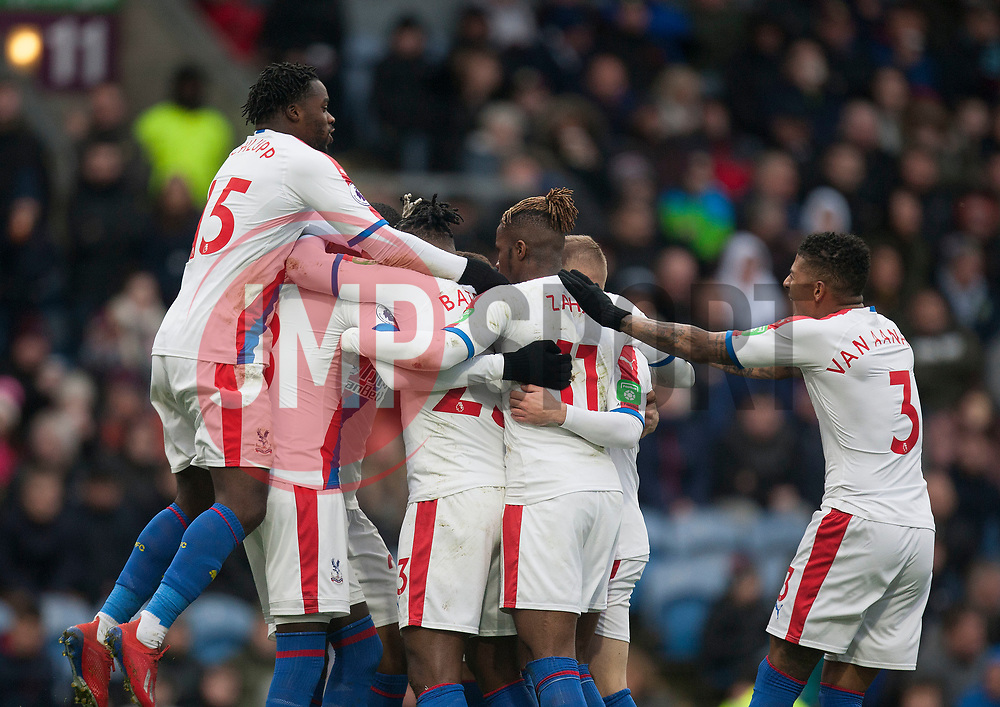 Michy Batshuayi of Crystal Palace (Hidden) celebrates scoring his sides second goal - Mandatory by-line: Jack Phillips/JMP - 02/03/2019 - FOOTBALL - Turf Moor - Burnley, England - Burnley v Crystal Palace - English Premier League