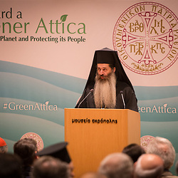 Bishop Symeon of Thespiae addressed the opening session of the Green Attica Symposium in Athens.