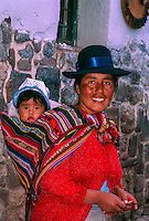 Peruvian mother and baby, Cuzco, Peru