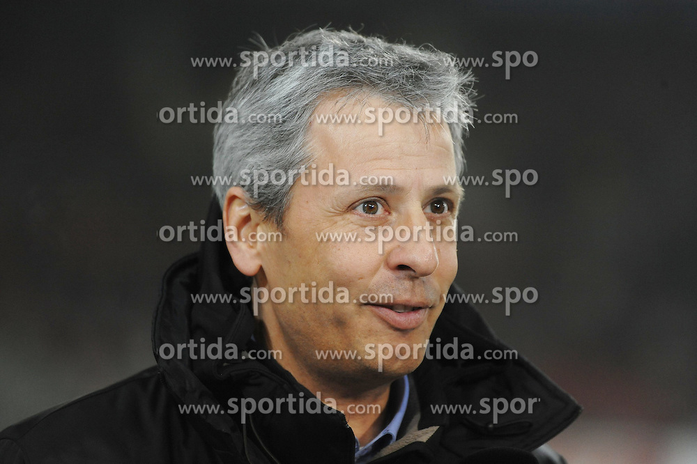 "29.01.2012, Mercedes-Benz-Arena, Stuttgart, GER, 1.FBL, VFB Stuttgart vs Borussia Moenchengladbach, 19. Spieltag, im Bild Trainer Lucien FAVRE (Borussia Moenchengladbach). Portrait // during the football match of German ""Bundesliga"" league, 19th round, between VFB Stuttgart vs Borussia Moenchengladbach at Mercedes-Benz-Arena, Stuttgart, Germany on 2012/01/29. EXPA Pictures © 2012, PhotoCredit: EXPA/ Eibner/ Wolfgang Stützle..***** ATTENTION - OUT OF GER *****"
