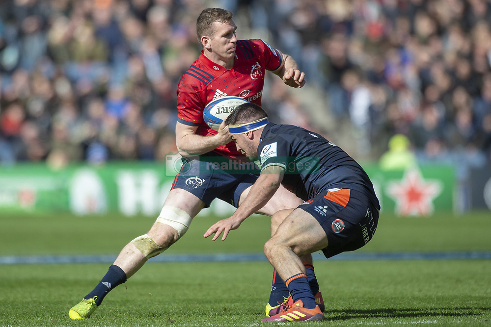 March 30, 2019 - Edinburgh, Scotland, United Kingdom - Chris Farrell of Munster in action with the ball during the Heineken Champions Cup Quarter Final match between Edinburgh Rugby and Munster Rugby at Murrayfield Stadium in Edinburgh, Scotland, United Kingdom on March 30, 2019  (Credit Image: © Andrew Surma/NurPhoto via ZUMA Press)