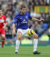 Photo: Paul Thomas.<br /> Everton v Middlesbrough. The Barclays Premiership.<br /> 06/11/2005.<br /> <br /> Everton goal scorer James Beattie.