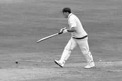 Hylton Ackerman, Northamptonshire, is bowled by John Price for three.