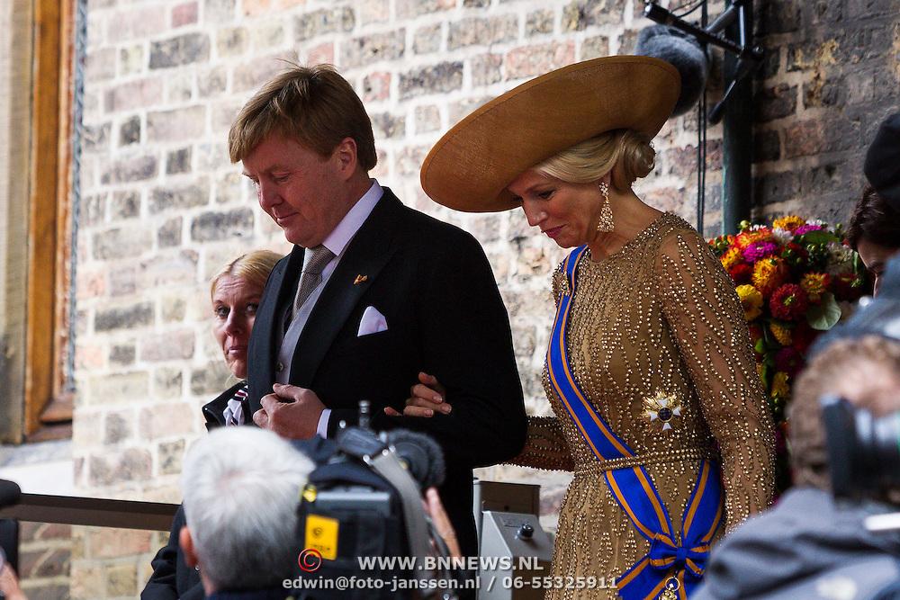 NLD/Den Haag/20130917 -  Prinsjesdag 2013, Koning Willem-Alexander en Koningin Maxima