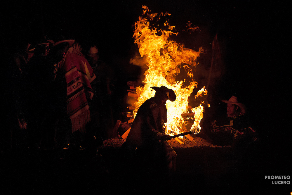 P'urépecha indigenous peoples celebrate the Fuego Nuevo (New Fire) in Nahuatzen, located in the mountain forests of Michoacan. (Photo: Prometeo Lucero)
