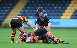Chelsey Snead of Worcester Valkyries tackles Sian Hobday of Richmond Women - Mandatory by-line: Nizaam Jones/JMP - 22/09/2018 - RUGBY - Sixways Stadium - Worcester, England - Worcester Valkyries v Richmond Women - Tyrrells Premier 15s