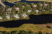 Aerial view of homes in Kiawah Island, SC.