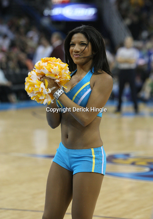 05 March 2009: A New Orleans Hornets Honeybee dancer performs during a 104-88 win by the New Orleans Hornets over the Dallas Mavericks at the New Orleans Arena in New Orleans, Louisiana.