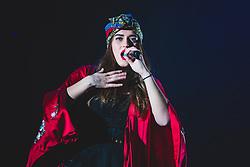 April 26, 2017 - Torino, Torino, Italy - Gaia Gozzi opened the Giorgia Todrani ''Oronero Tour'' concert in Torino with a song. (Credit Image: © Alessandro Bosio/Pacific Press via ZUMA Wire)