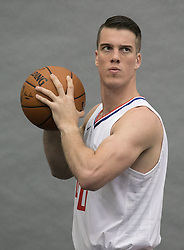 September 25, 2017 - Los Angeles, California, U.S - Marshall Plumlee #40 of the L.A. Clippers during Media Day on Monday September 25, 2017 at the L.A. Clippers training facility in Los Angeles, California. (Credit Image: © Prensa Internacional via ZUMA Wire)