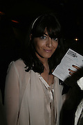CLAUDIA WINKLEMAN, Young Vic fundraising Gala after performance of Vernon God Little. The cut. London. 10 May 2007.  -DO NOT ARCHIVE-© Copyright Photograph by Dafydd Jones. 248 Clapham Rd. London SW9 0PZ. Tel 0207 820 0771. www.dafjones.com.