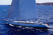 Mirabella V during the 2011  St. Barths Bucket Regatta Race 3.