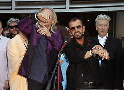 Ringo Starrcelebrated his birthday with family, friends, and fans for a #PeaceAndLove salute atNoon at The Capital Records Tower in Hollywood, California on 7/7/17. 07 Jul 2017 Pictured: Ringo Star, David Lynch. Photo credit: River / MEGA TheMegaAgency.com +1 888 505 6342