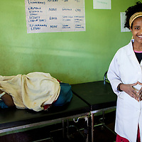 Midwife Addiss works hard every day, taking care of patients in rural health posts near Bahir Dar, Ethiopia.