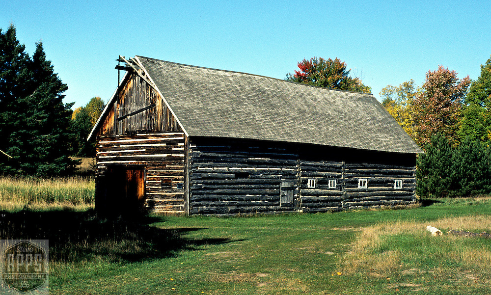 A collection of Barns that still can be seen while traveling the countryside in  the beautiful State of Wisconsin.<br /> log Barn Madeline Island. Barns from around the State of Wisconsin.