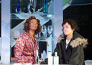 Linda <br /> by Penelope Skinner <br /> directed by Michael Longhurst <br /> at The Royal Court Theatre, London, Great Britain <br /> 30th November 2015 <br /> <br /> Nova Dumezweni as Linda <br /> <br /> Karla Crome as Alice <br /> <br /> <br /> <br /> <br /> Photograph by Elliott Franks <br /> Image licensed to Elliott Franks Photography Services