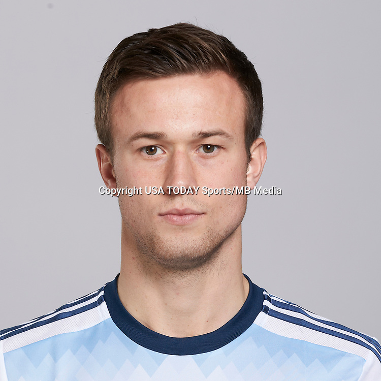 Feb 25, 2016; USA; Vancouver Whitecaps player Ben McKendry poses for a photo. Mandatory Credit: USA TODAY Sports