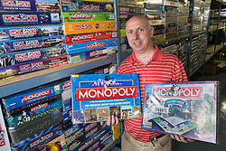 ** CAPTION CORRECTION Neil Scallan has spent an estimated £150,000 on monopoly boards, not £150,00 as stated in previous captions** <br />