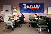 Bernie Sanders campaign office in Springfield, MA, Monday, Feb. 29, 2016.  CREDIT: Cheryl Senter for The New York Times