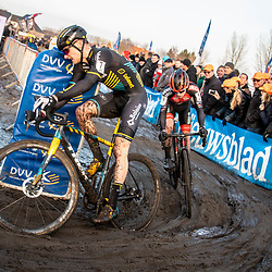 2019-12-27 Cycling: dvv verzekeringen trofee: Loenhout: Corne van Kessel and Eli Iserbyt dominated the race during the first lap