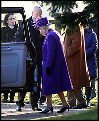 The Queen after attending the Church service on the Sandringham estate, Sandringham, Norfolk, United Kingdom. Sunday, 29th December 2013. Picture by Andrew Parsons / i-Images