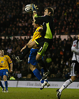 Photo: Steve Bond/Richard Lane Photography. Derby County v Crystal Palace. Coca Cola Championship. 06/12/2008. Keeper Roy Carroll collects under pressure from Alan Lee