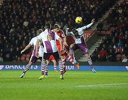 Southampton's Jay Rodriguez scores to make it 1-1 - Photo mandatory by-line: Alex James/JMP - Tel: Mobile: 07966 386802 04/12/2013 - SPORT - Football - Southampton - St Mary's Stadium - Southampton v Aston Villa - Barclays Premier League