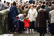 Photograph taken shortly after the shootings at Dunblane primary school, Dunblane, Scotland on 13th March, 1993. Thomas Hamilton shot 16 children and one teacher dead and injured 15 others, before killing himself. It remains the deadliest mass shooting in British history.
